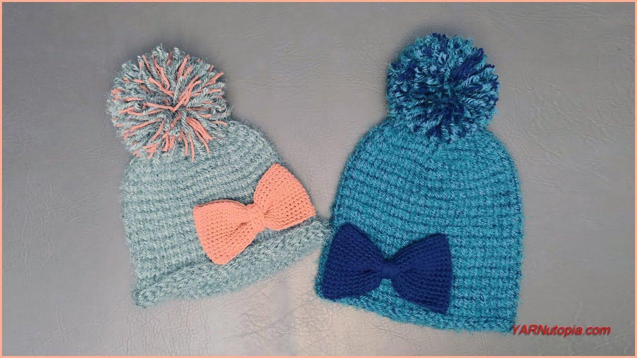 d3d02b62f42 How to Crochet Tutorial  DIY Soft Hygge Beanie Hat by YARNutopia ...