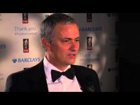 Jose Mourinho honoured at Football Writers