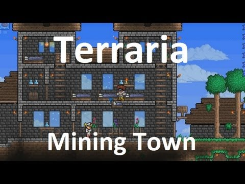 Terraria Mining Town Example YouTube