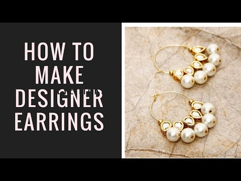 DIY how to make designer indian kundan earrings at home I jewellery making ideas