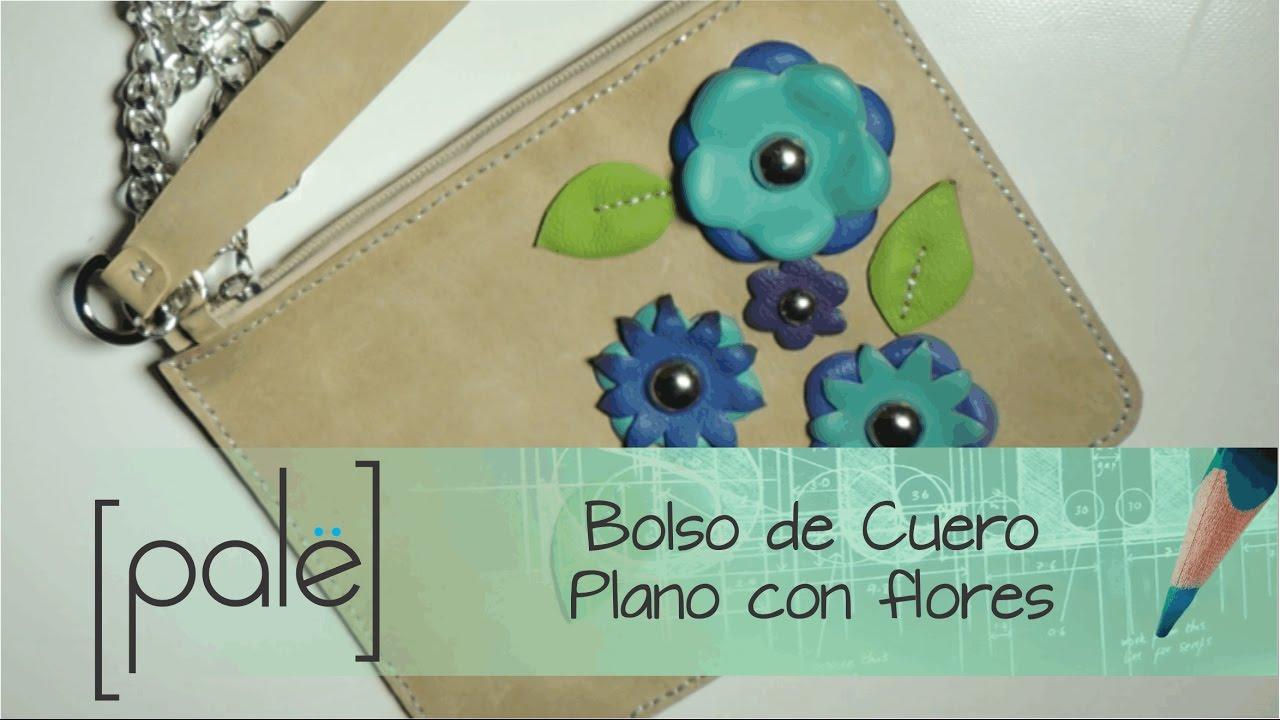 79485518b Bolso Plano con Flores en Cuero (Moldes gratis) - YouTube