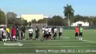 2014 db quincy wilson 1 on 1 db v wr highlights