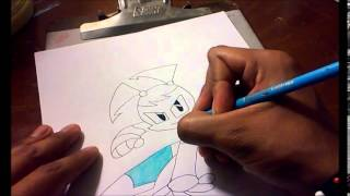 MY LIFE AS A TEENAGE ROBOT JENNY AKA XJ9 SPEED DRAWING
