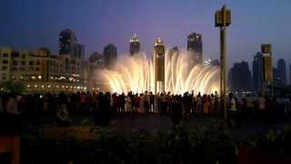 Dubai Dancing Fountains at Dubai Mall : I will always love you
