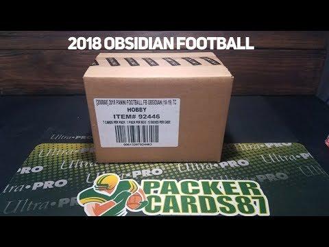 Packer Cards 87 - 2018 Obsidian Football with Buck City Breaks