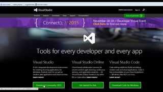 Download and Install Microsoft Visual Studio 2015 - Community 2015  - Free - .NET
