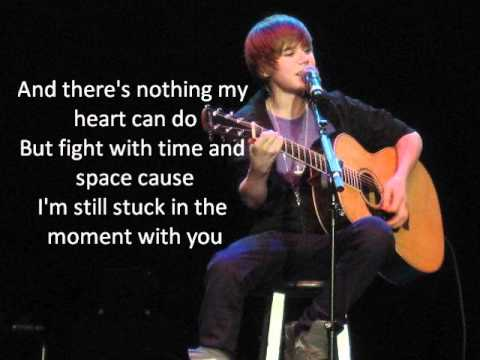 Stuck In The Moment acoustic  Justin Bieber LYRICS!
