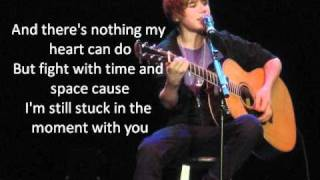 Stuck In The Moment (acoustic) - Justin Bieber LYRICS!