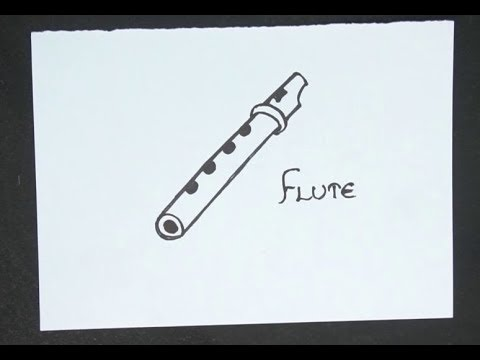 How To Draw A Flute Easy