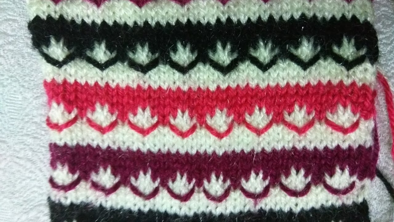 Easy Multicolor Knitting Pattern No. 7 | Hindi - YouTube