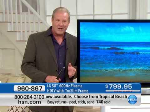 "LG 50"" 600Hz Plasma HDTV with TruSlim Frame"