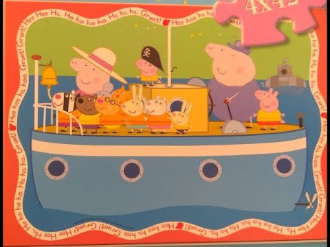 Peppa Pig Ravensburger Puzzle For Kids Sailing The Boat: Grandpa And Grandma Pig Adventure Jigsaw