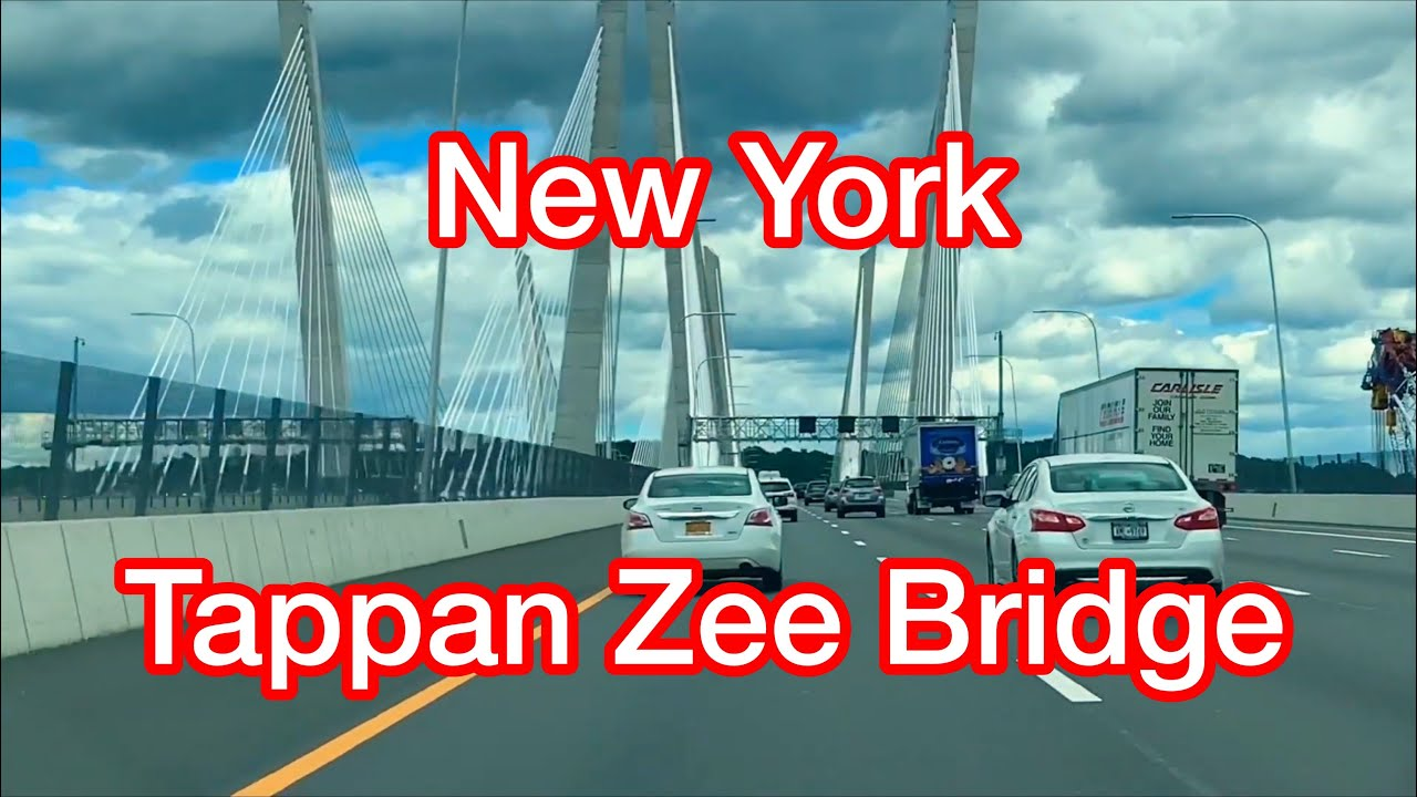 Driving Across the New Tappan Zee Bridge (Governor Mario M. Cuomo Bridge ) on Hudson River, 2019