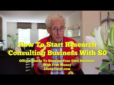 Start A Research Consulting Business With $0