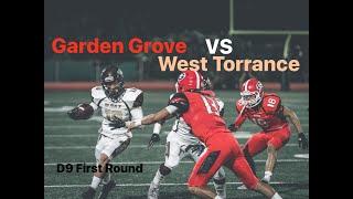 CIF D9 Round 1 Garden Grove Argos VS West Torrance Warriors High School Football 2018 HD