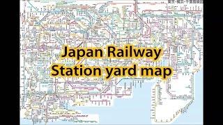 Japan Railway Station yard map in Tokyo
