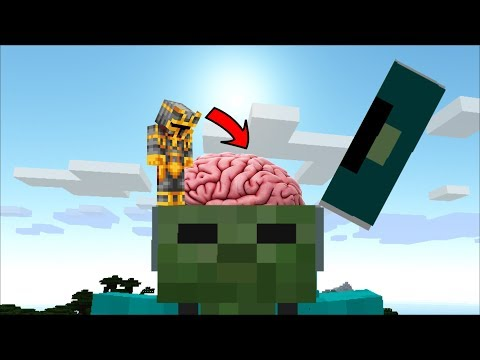 MC NAVEED TRAVELS INSIDE MARK FRIENDLY ZOMBIE BRAIN TO DESTROY EVERYTHING!! Minecraft Mods