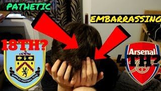 Reacting to my premier league table prediction!!