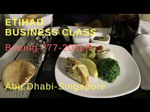 Etihad Business Class 777-200LR | Abu Dhabi - Singapore | Trip report 2017
