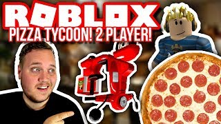 WE OPEN A PIZZA FACTORY! :: 2 Player Pizza Tycoon m. TortenSkjold-English Roblox