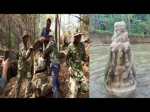 Archaeologists Discover Never Seen Before Makara Statue in Cambodia
