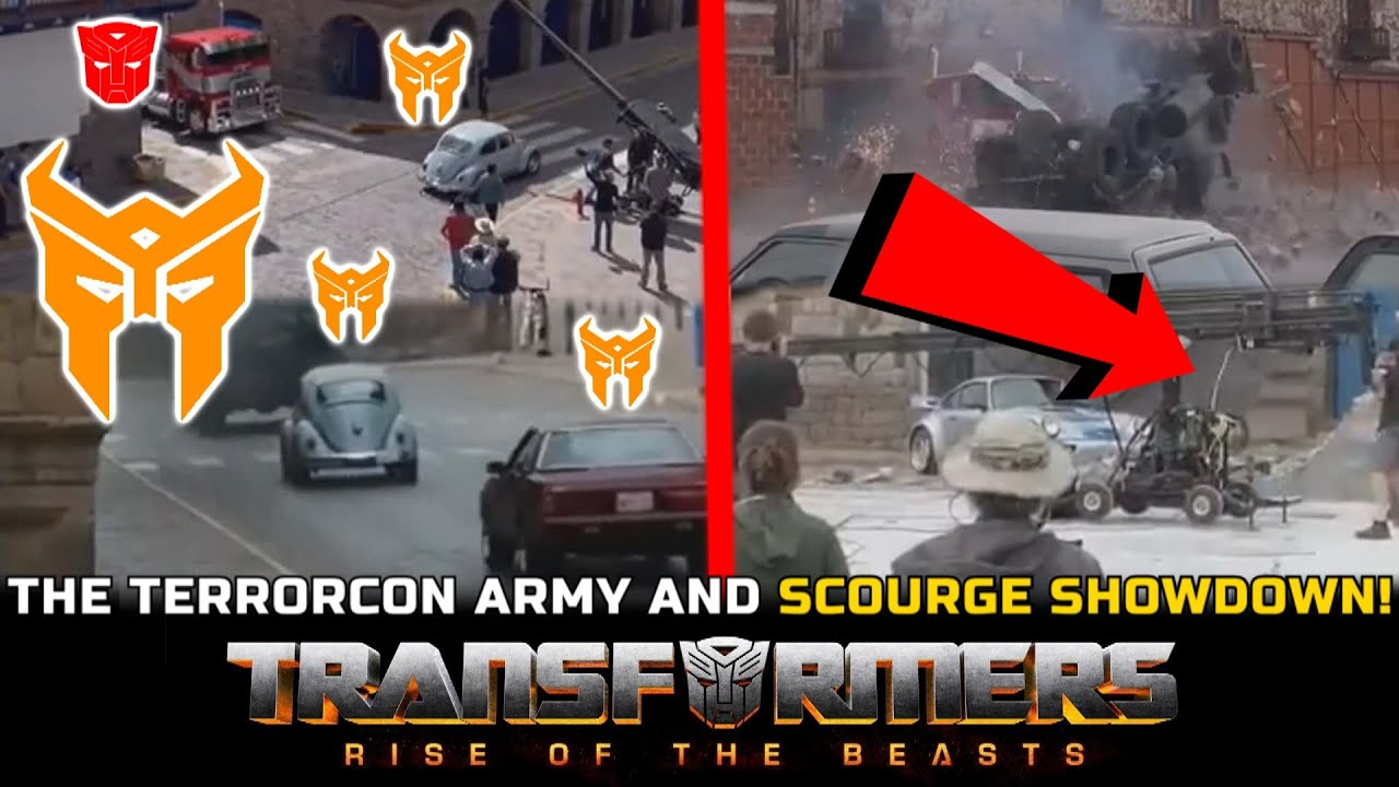 Download Scourge Final Showdown And Terrorcon Army In Rise Of The Beasts Filming?! - Transformers(2022)