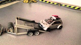 On ´n Off 1/10 Opel Corsa C Super 1600 GTI Drift - Custom RC Car Trailer - BMW M3 Tamiya TT-01 Drift