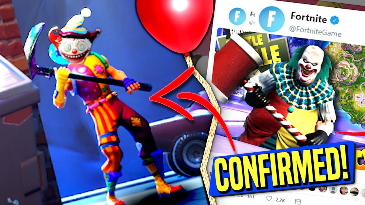 confirmed epic games finally confirms clowns in fortnite creepy clown update br - fortnite clown game