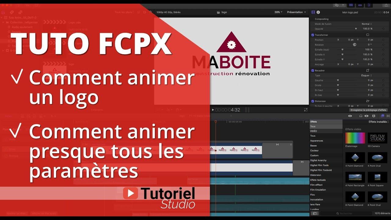 Final Cut Pro X TUTO : comment animer un logo