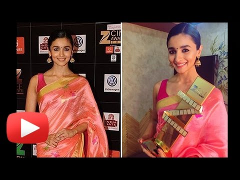 Alia Bhatt In A Ethnic Traditional Saree At Zee Cine Awards 2017 | Hot Or Not ?
