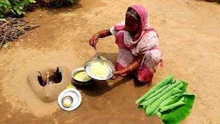 Traditional KACHU Pata Bata & Garam Vat Recipe by Grandmother | Rice & Arum Leaf Paste Lunch Recipe