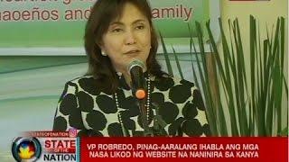 SONA: VP Robredo, pinag-aaralang ihabla ang mga nasa likod ng website na naninira sa kanya