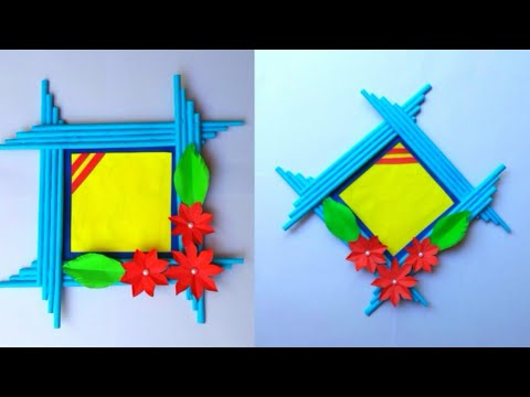 DIY: How to make Photo Frame out of Paper Sticks | Easy Photo Frame Tutorial |Handmade Photo Frame