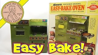 1969 Betty Crocker Easy Premier Model Bake Oven, Kenner Toys - Chocolate Cake & Oatmeal Fruit Bars!