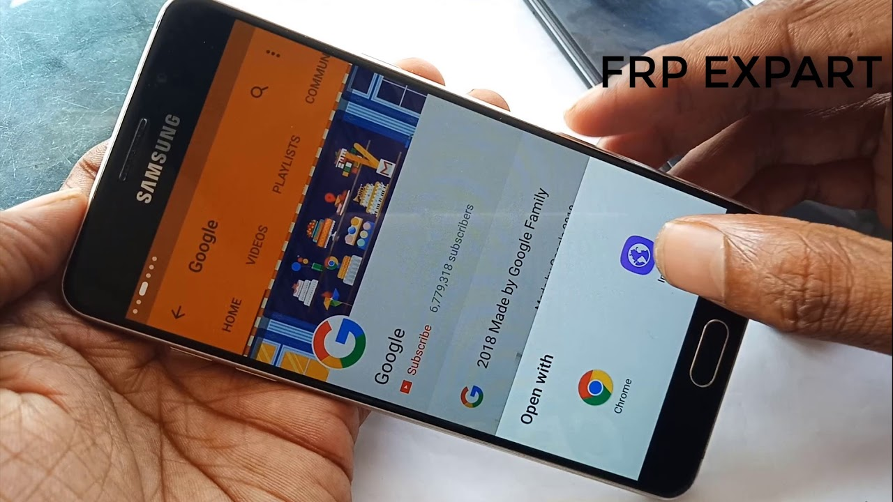 Samsung A510F Frp Bypass A510F Frp Google Lock Remove Without Pc A510F 7 0