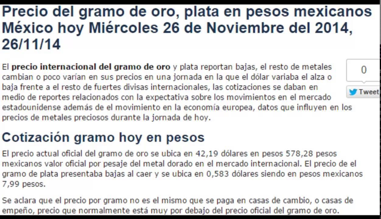Precio De Oro 14 Kilates Hoy May 2020