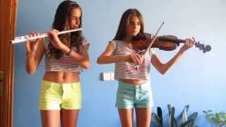 canon de pachelbel violn y flauta