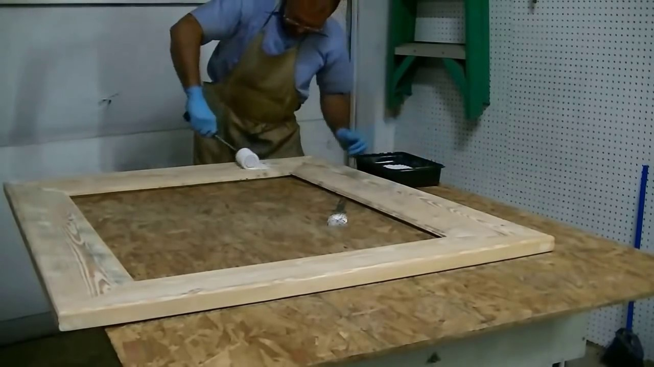 making a large mirror frame with rough cut lumber 7 wide frame home made sawmill lumber