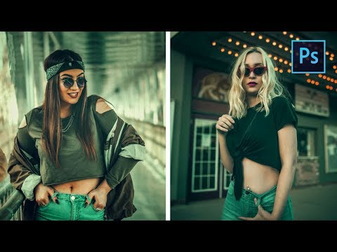 [ Photoshop Tutorial ] Cinematic Green Effect Color Grading thumbnail