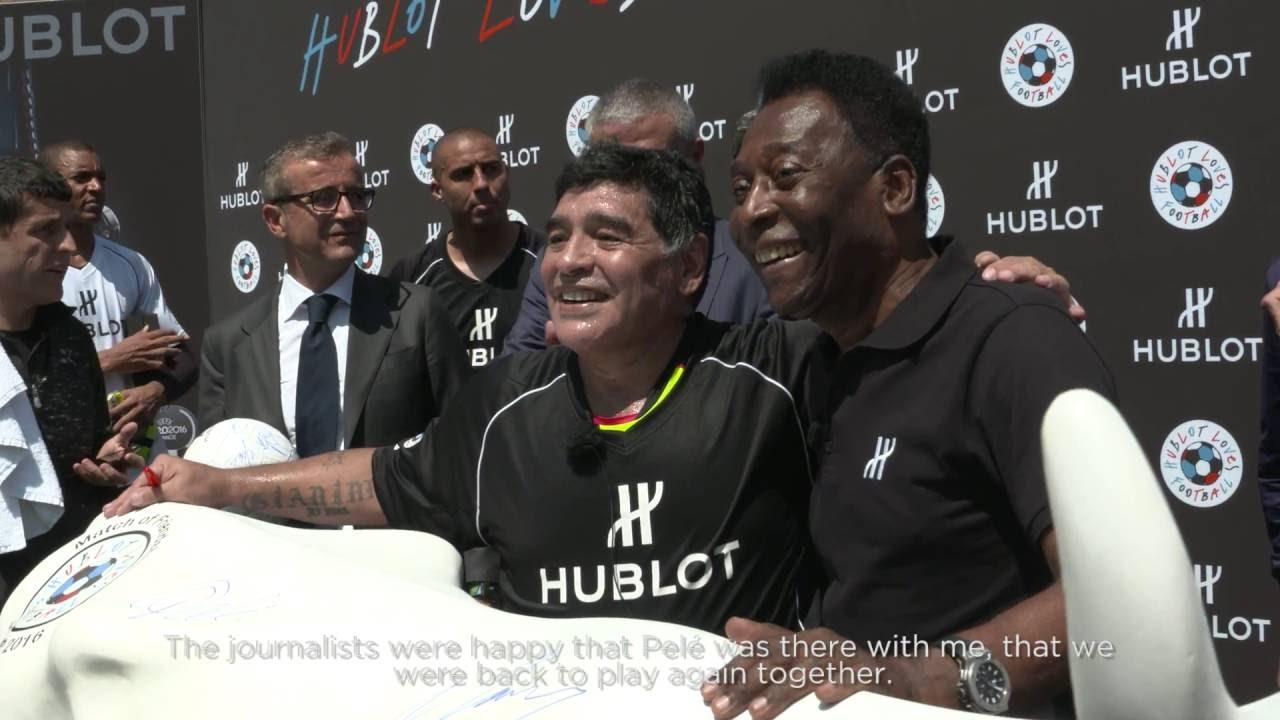 HUBLOT MATCH OF FRIENDSHIP WITH FOOTBALL LEGENDS PELE AND MARADONA