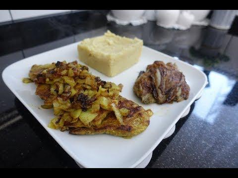 escalope-de-veau-marinée-,-chicons-grillés-et-sa-délicieuse-purée-|-comfort-food