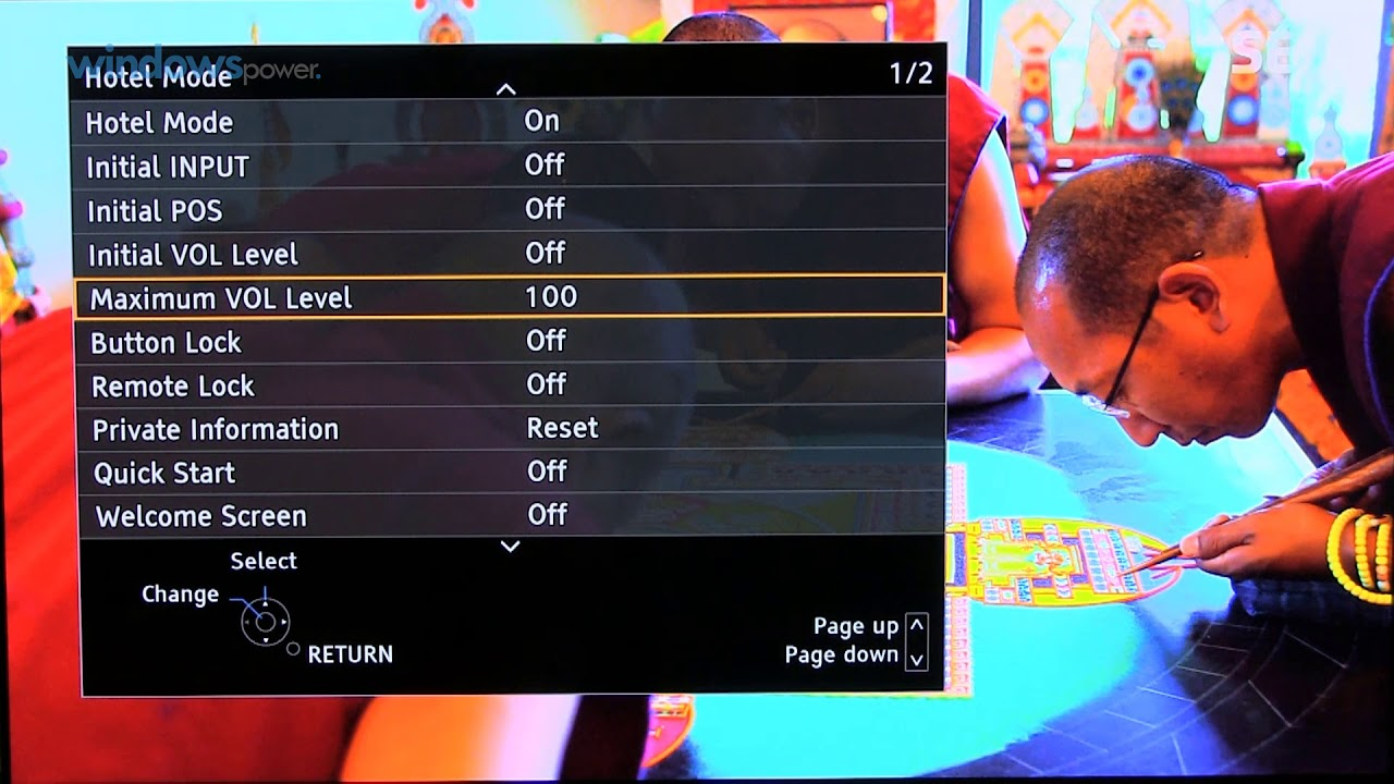 Panasonic TV Hotel Mode aktivieren