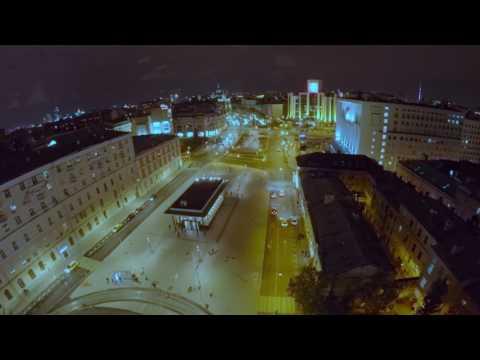 Москва, Чистые пруды, ночной полёт.