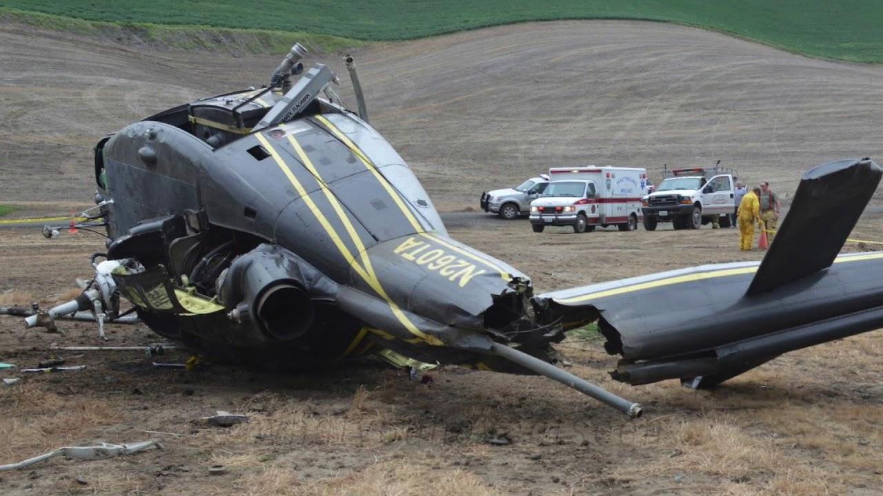 Helicopter Crash in Waitsburg, Washington (May, 2014) - YouTube