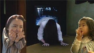 만약에 TV에서 유령이 나온다면? TV속에서 유령이 나온다! TV귀신 If Ghost out of TV? haunted house prank