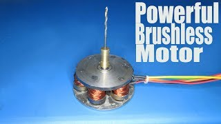 How to make a Powerful  Brushless Motor |  DIY sensored Brushless motor
