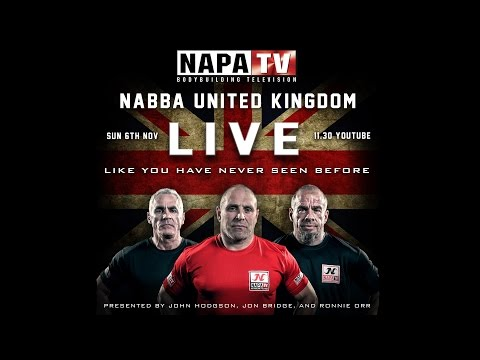 LIVE: NABBA UNITED KINGDOM BODYBUILDING COMPETITION