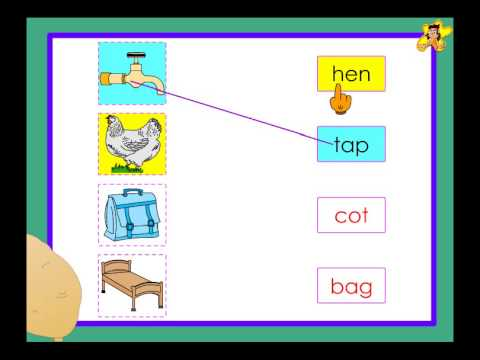 Kindergarten - matching pictures with words worksheet - YouTube