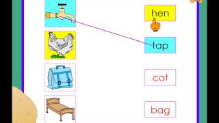 Kindergarten  - matching pictures with words worksheet