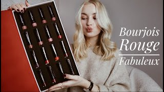 BOURJOIS ROUGE FABULEUX // Review and demo of all the shades!